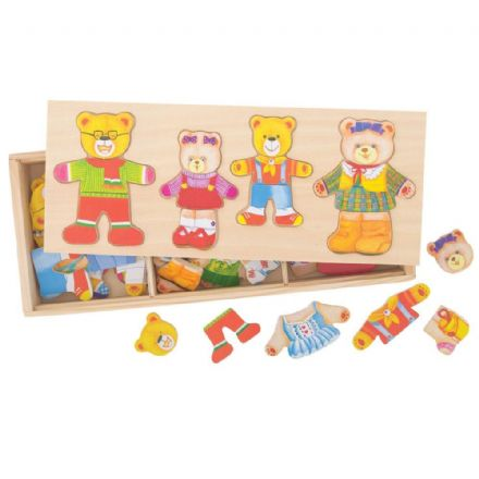 Bigjigs Bear Family Mix and Match Dress-up Puzzle
